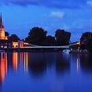 Marlow Bridge at Night by Martin Griffett