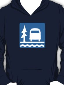 VW Bay Window Bus Camping T-Shirt