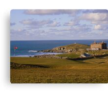 Cornwall: Golf Course With a View at Newquay Canvas Print