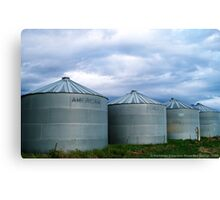 Montana Farm Silos Canvas Print