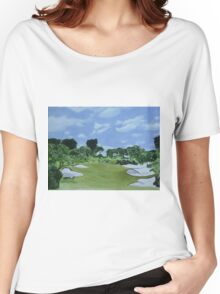 Golf Hole Royal Melbourne Women's Relaxed Fit T-Shirt