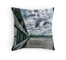 Waterfront Dock Throw Pillow