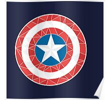 Captain America - Stylised Shield Poster