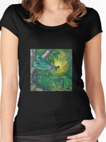 """Dragonfly Dreaming"" Women's Fitted Scoop T-Shirt"