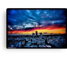 Naik Michel Photography - Sunset over Santa Monica, Los Angeles, California 001 Canvas Print