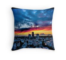 Naik Michel Photography - Sunset over Santa Monica, Los Angeles, California 001 Throw Pillow