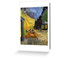 Vincent Van Gogh Cafe Terrace At Night Greeting Card