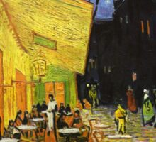 Vincent Van Gogh Cafe Terrace At Night Sticker