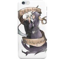 """""""Death be a Lady"""" Grim Reaper iPhone Case/Skin"""