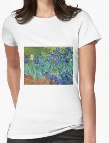 Vincent Van Gogh irisis Womens Fitted T-Shirt