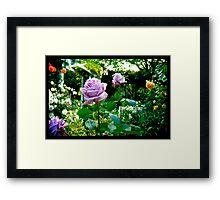 Naik Michel Photography - Hortensia House Garden Purple Flower Roses 001 Framed Print