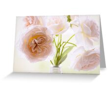 Rose Blooms in Soft Pink Greeting Card