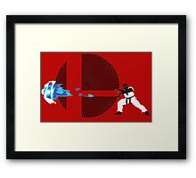 Ryu, Hadouken! - Sunset Shores Framed Print