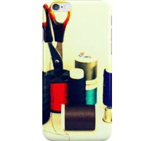 Buttons, Cotton Reels, Scissors And A Thimble iPhone Case/Skin