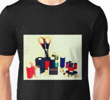 Buttons, Cotton Reels, Scissors And A Thimble Unisex T-Shirt