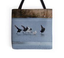 Speed Skating!  Coot Olympics! Tote Bag