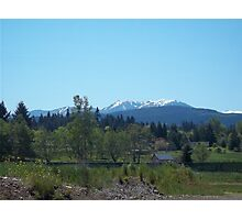 Olympic Moutains, Sequim, WA Photographic Print
