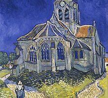 Vincent Van Gogh church at Auvers by Acosmist
