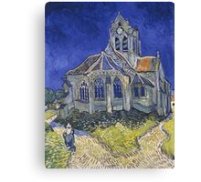 Vincent Van Gogh church at Auvers Canvas Print