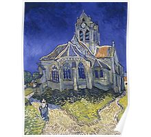 Vincent Van Gogh church at Auvers Poster