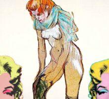 Louis, Miro, Warhol, Toulouse-Lautrec Sticker