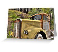 old KW near Ashland Or. Greeting Card