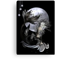 La Mer - Pearl Art Deco Mermaid Canvas Print