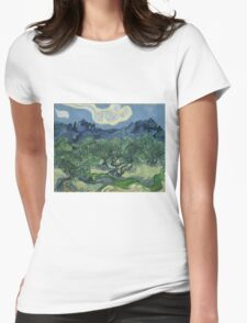 Vincent Van Gogh the olive trees Womens Fitted T-Shirt