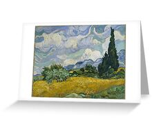 Vincent Van Gogh wheat field with cypresses Greeting Card
