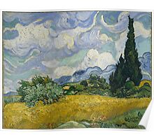 Vincent Van Gogh wheat field with cypresses Poster