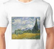 Vincent Van Gogh wheat field with cypresses Unisex T-Shirt
