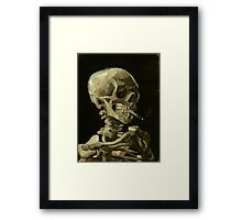 Vincent Van Gogh smoking skeleton Framed Print