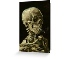 Vincent Van Gogh smoking skeleton Greeting Card