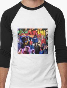 Heather's Collage Men's Baseball ¾ T-Shirt