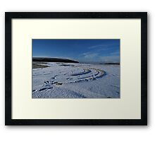 semi circles Framed Print