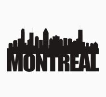 Montreal Skyline - black by ianscott76