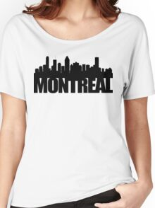 Montreal Skyline - black Women's Relaxed Fit T-Shirt