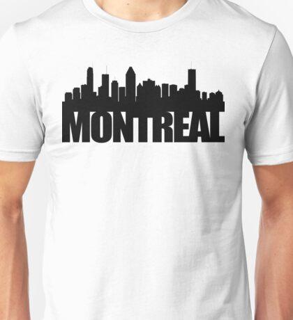 Montreal Skyline - black Unisex T-Shirt