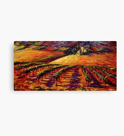 Tuscan Wine Country Canvas Print