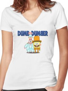 Dumb and Dumber Women's Fitted V-Neck T-Shirt