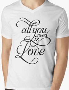 ALL YOU NEED IS LOVE Beatles inspired T Mens V-Neck T-Shirt