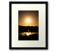 Sunday But Saturday Framed Print