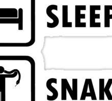 Snake Lovers Funny Shirt Eat Sleep Snakes Repeat  Sticker