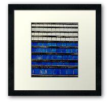 Tiles upward Framed Print