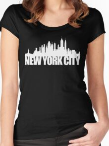 NYC Skyline - white Women's Fitted Scoop T-Shirt