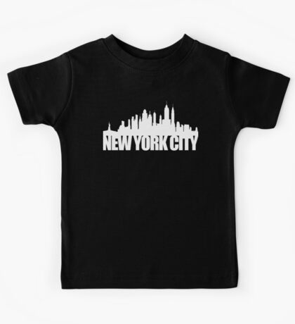 NYC Skyline - white Kids Tee