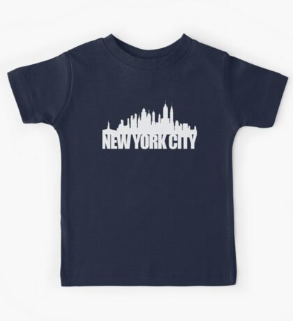 NYC Skyline - white Kids Tee
