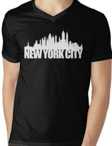 NYC Skyline - white Mens V-Neck T-Shirt