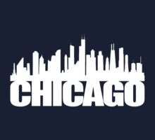 Chicago Skyline - white Kids Tee