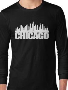 Chicago Skyline - white Long Sleeve T-Shirt